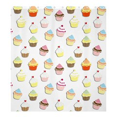 Cupcakes Pattern Shower Curtain 66  X 72  (large)  by Valentinaart