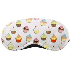 Cupcakes Pattern Sleeping Masks by Valentinaart