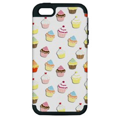 Cupcakes Pattern Apple Iphone 5 Hardshell Case (pc+silicone) by Valentinaart