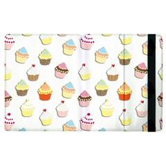Cupcakes Pattern Apple Ipad 2 Flip Case by Valentinaart