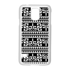 Traditional Draperie Samsung Galaxy S5 Case (white) by Onesevenart