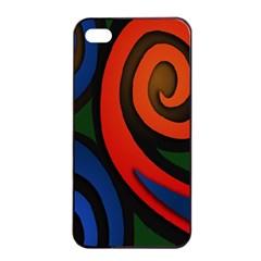 Simple Batik Patterns Apple Iphone 4/4s Seamless Case (black) by Onesevenart