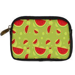 Watermelon Fruit Patterns Digital Camera Cases by Onesevenart