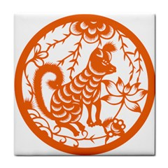 Chinese Zodiac Dog Tile Coasters by Onesevenart