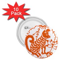 Chinese Zodiac Dog 1 75  Buttons (10 Pack) by Onesevenart