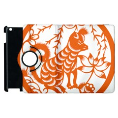 Chinese Zodiac Dog Apple Ipad 2 Flip 360 Case by Onesevenart