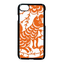 Chinese Zodiac Dog Apple Iphone 7 Seamless Case (black) by Onesevenart