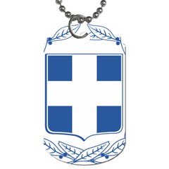 Greece National Emblem  Dog Tag (two Sides) by abbeyz71