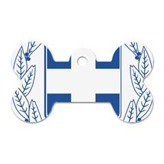 Greece National Emblem  Dog Tag Bone (one Side) by abbeyz71