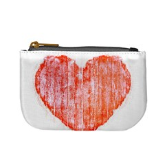 Pop Art Style Grunge Graphic Heart Mini Coin Purses by dflcprints