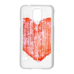 Pop Art Style Grunge Graphic Heart Samsung Galaxy S5 Case (white) by dflcprints