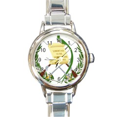 National Emblem Of Guatemala  Round Italian Charm Watch by abbeyz71