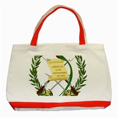 National Emblem Of Guatemala  Classic Tote Bag (red) by abbeyz71