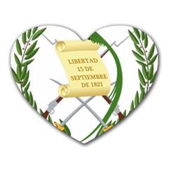 National Emblem Of Guatemala Heart Mousepads by abbeyz71