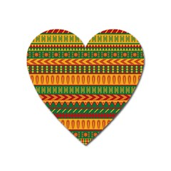 Mexican Pattern Heart Magnet by Onesevenart
