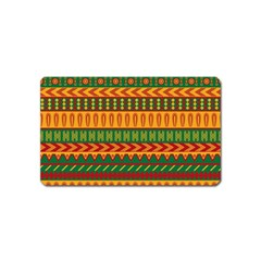 Mexican Pattern Magnet (name Card) by Onesevenart