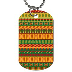 Mexican Pattern Dog Tag (two Sides) by Onesevenart