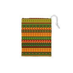 Mexican Pattern Drawstring Pouches (xs)  by Onesevenart