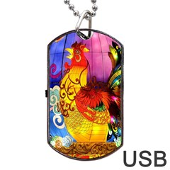 Chinese Zodiac Signs Dog Tag Usb Flash (two Sides) by Onesevenart