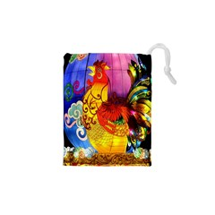 Chinese Zodiac Signs Drawstring Pouches (XS)  by Onesevenart
