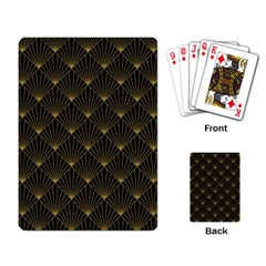 Abstract Stripes Pattern Playing Card by Onesevenart