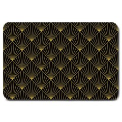 Abstract Stripes Pattern Large Doormat