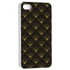 Abstract Stripes Pattern Apple Iphone 4/4s Seamless Case (white) by Onesevenart