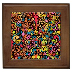 Art Traditional Pattern Framed Tiles by Onesevenart