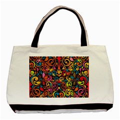 Art Traditional Pattern Basic Tote Bag (two Sides) by Onesevenart