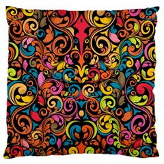 Art Traditional Pattern Large Flano Cushion Case (One Side) by Onesevenart