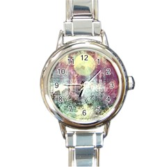 Frosty Pale Moon Round Italian Charm Watch by theunrulyartist