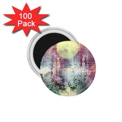 Frosty Pale Moon 1 75  Magnets (100 Pack)  by theunrulyartist