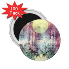Frosty Pale Moon 2 25  Magnets (100 Pack)  by theunrulyartist