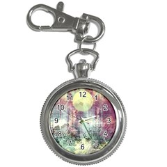 Frosty Pale Moon Key Chain Watches by theunrulyartist