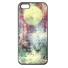 Frosty Pale Moon Apple Iphone 5 Seamless Case (black) by theunrulyartist