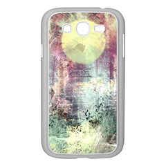 Frosty Pale Moon Samsung Galaxy Grand Duos I9082 Case (white) by theunrulyartist