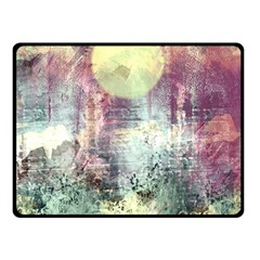 Frosty Pale Moon Double Sided Fleece Blanket (small)  by theunrulyartist