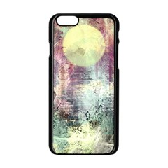 Frosty Pale Moon Apple Iphone 6/6s Black Enamel Case by theunrulyartist