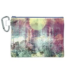 Frosty Pale Moon Canvas Cosmetic Bag (xl) by theunrulyartist