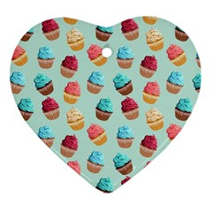Cup Cakes Party Ornament (heart) by tarastyle