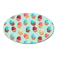 Cup Cakes Party Oval Magnet by tarastyle