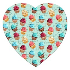 Cup Cakes Party Jigsaw Puzzle (heart) by tarastyle