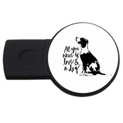 Dog Person Usb Flash Drive Round (4 Gb) by Valentinaart