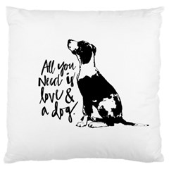 Dog person Standard Flano Cushion Case (Two Sides) by Valentinaart