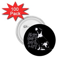 Dog Person 1 75  Buttons (100 Pack)  by Valentinaart