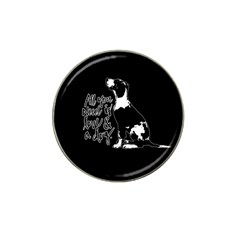 Dog Person Hat Clip Ball Marker (10 Pack) by Valentinaart