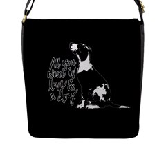 Dog Person Flap Messenger Bag (l)  by Valentinaart