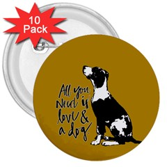 Dog Person 3  Buttons (10 Pack)  by Valentinaart