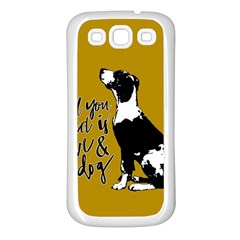 Dog Person Samsung Galaxy S3 Back Case (white) by Valentinaart