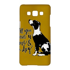 Dog Person Samsung Galaxy A5 Hardshell Case  by Valentinaart